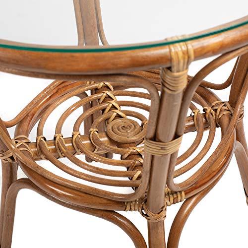 Rattan Gartenmöbel Set – Balkon Möbel – Lounge Möbel Terrasse – Ragnarök Gartenmöbel – Tisch Set – Balkonmöbel Set mit Couch (Hellbraun – Schokolade) - 3