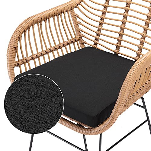 Casaria 3 TLG. Balkonset Beistelltisch 2 Lounge Sessel Indoor Outdoor Wetterfest Natur Poly Rattan-Look Sitzgruppe Garten Balkon Set - 5