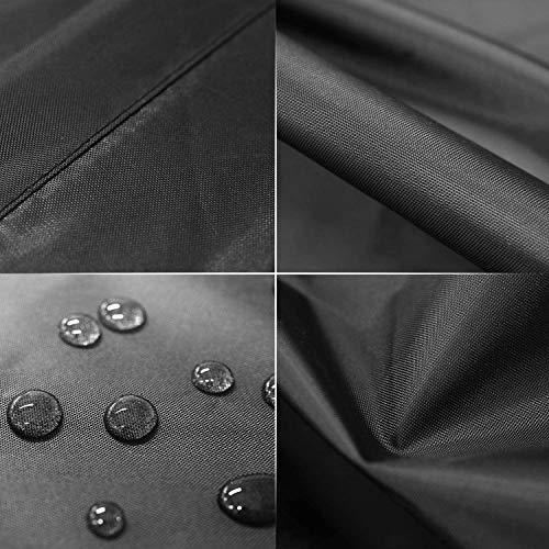 MVPower Abdeckung Schutzhülle Abdeckplane Abdeckhaube für Gartenmöbel und für rechteckige Sitzgarnituren, Gartentische und Möbelsets (300 * 250 * 90cm) - 3