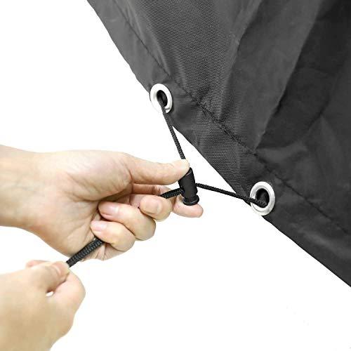 MVPower Abdeckung Schutzhülle Abdeckplane Abdeckhaube für Gartenmöbel und für rechteckige Sitzgarnituren, Gartentische und Möbelsets (300 * 250 * 90cm) - 7
