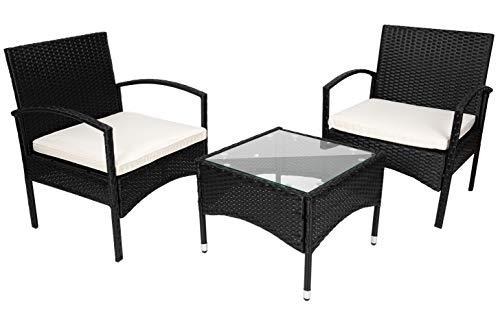 MT MALATEC Gartenmöbel Sitzgruppe Sofa Polyrattan Gartenset Tisch 11965