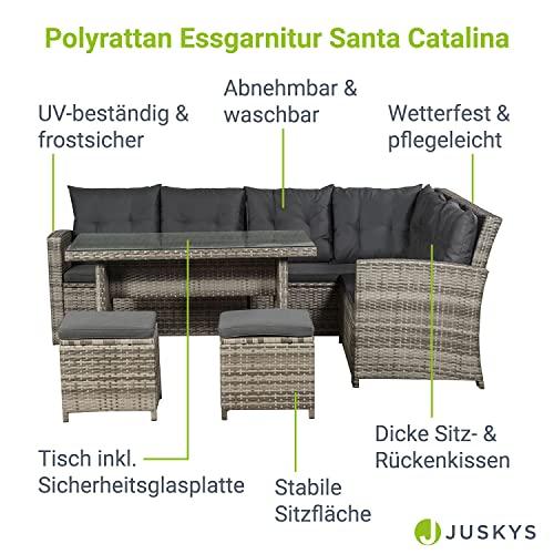 ArtLife Polyrattan Sitzgruppe Lounge Santa Catalina beige-grau – Gartenmöbel-Set mit Eck-Sofa & Tisch – bis 6 Personen – wetterfest & stabil - 3