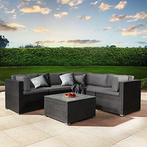 ArtLife Polyrattan Lounge Nassau schwarz   Gartenmöbel Set mit Ecksofa & Tisch   Bezüge in Grau   Sitzgruppe für Terrasse   Loungemöbel Gartenlounge - 2