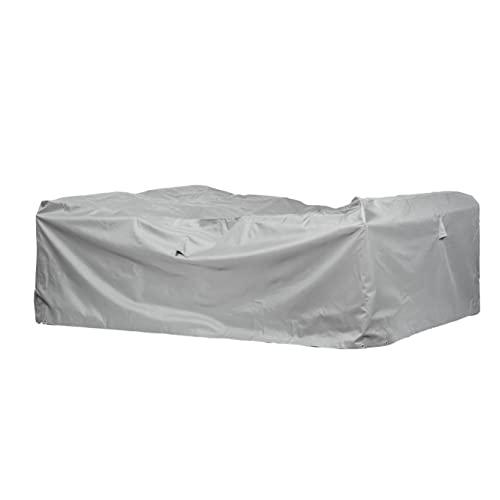 Mehr Garten Gartenmöbel Abdeckung rechteckig, Premium Schutzhülle Abdeckplane für Lounge-Gruppe Loungemöbel wasserdicht 230 x 165 x 80 cm Lichtgrau