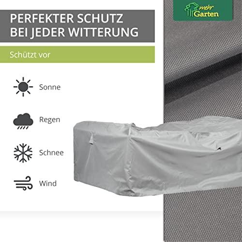 Mehr Garten Gartenmöbel Abdeckung rechteckig, Premium Schutzhülle Abdeckplane für Lounge-Gruppe Loungemöbel wasserdicht 230 x 165 x 80 cm Lichtgrau - 3