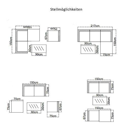 SVITA California Poly-Rattan Lounge Gartenset Sofa-Set Garnitur Gartenmöbel Couch-Set - 5