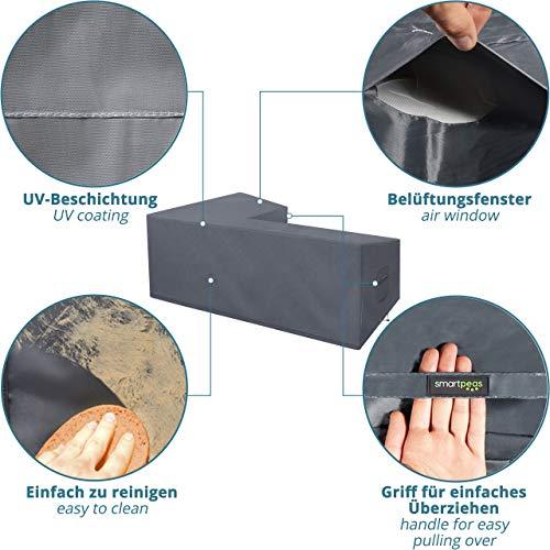 Abdeckung für L-Form Gartenmöbel & Loungemöbel 210x270x90cm Lounge Abdeckplane für L Form Gartenlounge - 3