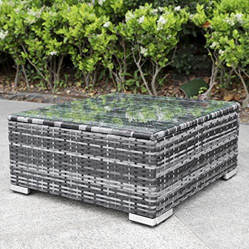 Enjoy Fit Rattan Polyrattan Lounge Sitzgruppe Garnitur Gartenmöbel aus 4 Sitze Sofa, Aufbewahrungsbox für Kissen - 5
