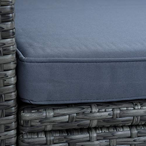 ESTEXO Rattan Lounge Sitzgruppe Polyrattan Gartenmöbel Set Couch 3-Sitzer Rattanmöbel Sofa Set Essgruppe Gartenset Balkon-Set (Anthrazit-Grau) - 7