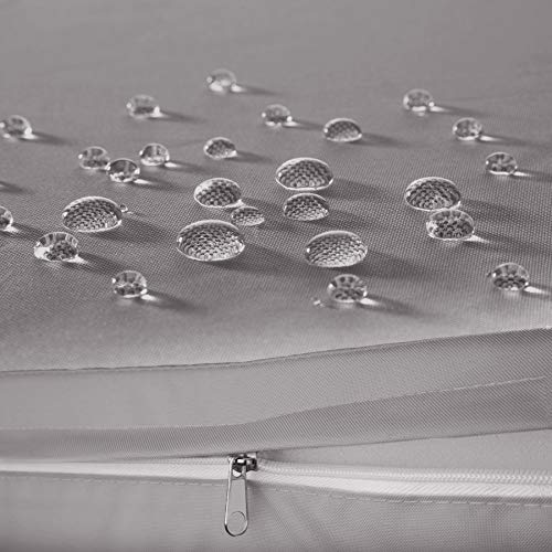 TecTake 800682 Polyrattan Sitzgruppe für 2 Personen, zusammenschiebbar, 2 Stühle & 1 Tisch mit Glasplatte, inkl. Sitz- und Rückenkissen – Diverse Farben – (Grau | Nr. 403097) - 6