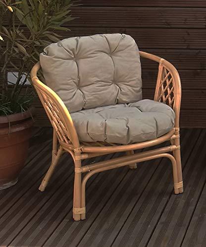 Mayaadi-Home Gartenbankauflagen 6 teiliges Sitzkissen-Set Sitzpolster für Gartengarnitur Set Steve Beige JCG1 - 2