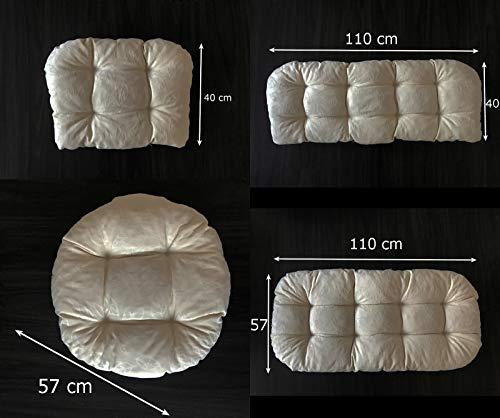 Mayaadi-Home Gartenbankauflagen 6 teiliges Sitzkissen-Set Sitzpolster für Gartengarnitur Set Steve Beige JCG1 - 3