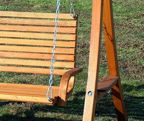 ASS Design Hollywoodschaukel Gartenschaukel Hollywood Schaukel KUREDO-OD aus Holz Lärche - 4