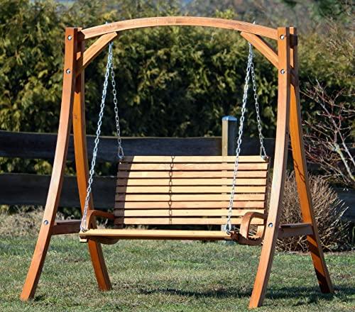 ASS Design Hollywoodschaukel Gartenschaukel Hollywood Schaukel KUREDO-OD aus Holz Lärche - 5