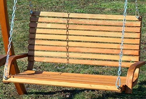 ASS Design Hollywoodschaukel Gartenschaukel Hollywood Schaukel KUREDO-OD aus Holz Lärche - 6