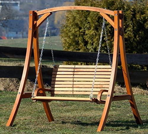 ASS Design Hollywoodschaukel Gartenschaukel Hollywood Schaukel KUREDO-OD aus Holz Lärche - 7
