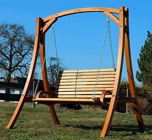 ASS Design Hollywoodschaukel Gartenschaukel Hollywood Schaukel KUREDO-OD aus Holz Lärche - 8