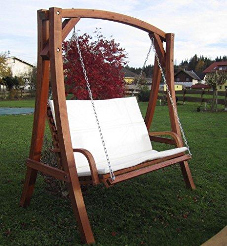 ASS Design Hollywoodschaukel Gartenschaukel Schaukel Holzschaukel Hollywood Swing aus Holz Lärche Modell KUREDO103OD - 2