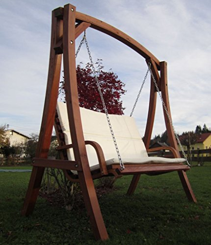 ASS Design Hollywoodschaukel Gartenschaukel Schaukel Holzschaukel Hollywood Swing aus Holz Lärche Modell KUREDO103OD - 3