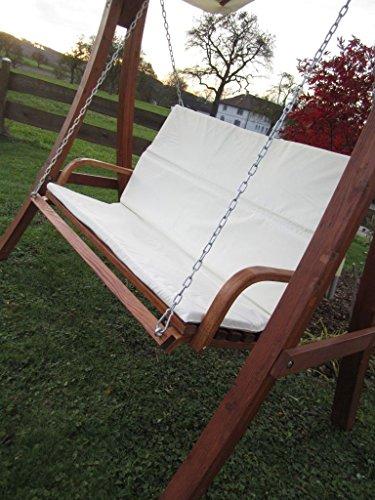 ASS Design Hollywoodschaukel Gartenschaukel Schaukel Holzschaukel Hollywood Swing aus Holz Lärche Modell KUREDO103OD - 6