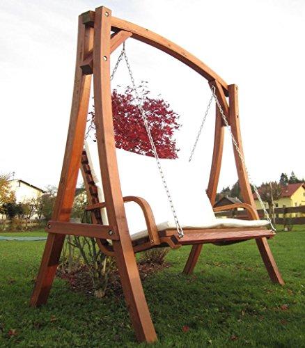 ASS Design Hollywoodschaukel Gartenschaukel Schaukel Holzschaukel Hollywood Swing aus Holz Lärche Modell KUREDO103OD - 8