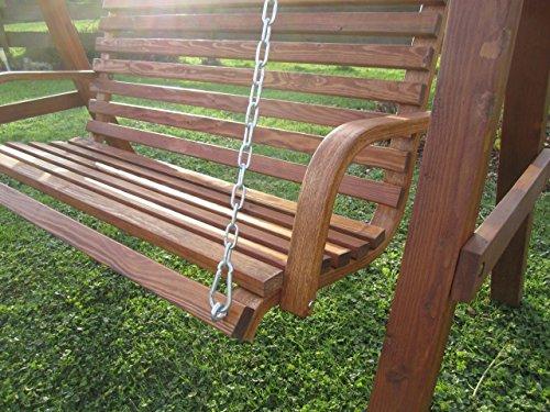ASS Design Hollywoodschaukel Gartenschaukel Schaukel Holzschaukel Hollywood Swing aus Holz Lärche Modell KUREDO103OD - 9