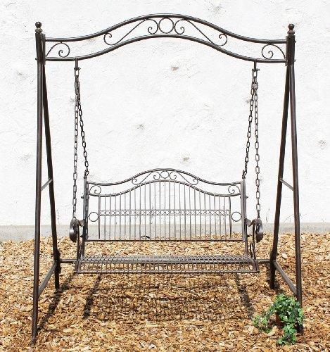 DanDiBo Hollywoodschaukel Metall Antik 2 Sitzer Gartenschaukel 082505 Schaukel Garten Schmiedeeisen - 2