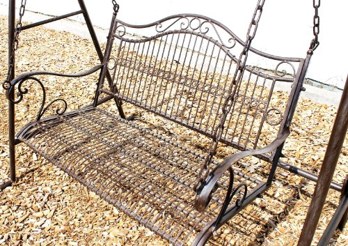 DanDiBo Hollywoodschaukel Metall Antik 2 Sitzer Gartenschaukel 082505 Schaukel Garten Schmiedeeisen - 3
