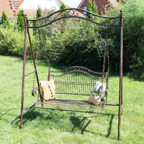 DanDiBo Hollywoodschaukel Metall Antik 2 Sitzer Gartenschaukel 082505 Schaukel Garten Schmiedeeisen - 4