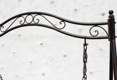 DanDiBo Hollywoodschaukel Metall Antik 2 Sitzer Gartenschaukel 082505 Schaukel Garten Schmiedeeisen - 8