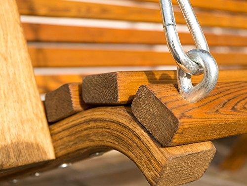 ASS Design Hollywoodschaukel KUREDO/Rio GRÜN aus Holz Lärche mit Dach abnehmbar - 6
