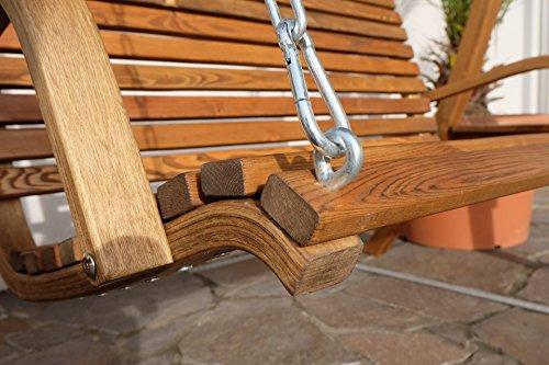 ASS Design Hollywoodschaukel KUREDO/Rio GRÜN aus Holz Lärche mit Dach abnehmbar - 7