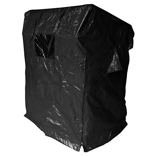 BRAST Strandkorb Deluxe 2-Sitzer XXL für 2 Personen 120cm breit mehrere Designs incl. Abdeckhaube Farbe Blau/Hellblau/Weiß gestreift Ostsee - 9