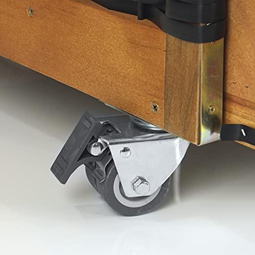 Hoberg 2-Sitzer-Strandkorb (Ostsee), 120x80x160 cm, 5 Liegestufen einstellbar, Rollen mit Feststellbremsen, ausziehbare Fußbänke, 2 Nackenkissen - 6
