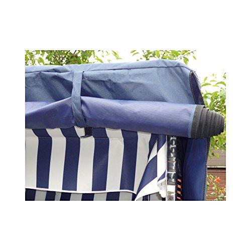 XINRO® XL Volllieger Strandkorb Ostsee – anthrazit, schwarzes Polyrattan – XY-71-118cm breit – inkl. Strandkorbhülle – inkl. 4 Kissen - 6