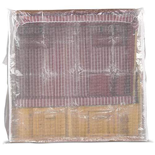 Strandkorb Schutzhülle 150 cm breit in Transparent, Strandkorbhülle mit Reißverschluss, Strandkorbabdeckung - 4