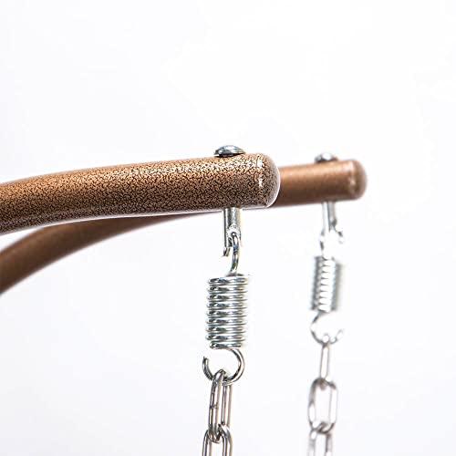 Home Deluxe - Polyrattan Hängesessel - Twin braun - inkl. Gestell, Sitz- und Rückenkissen | Hängestuhl Gartenschaukel Hängekorb - 6