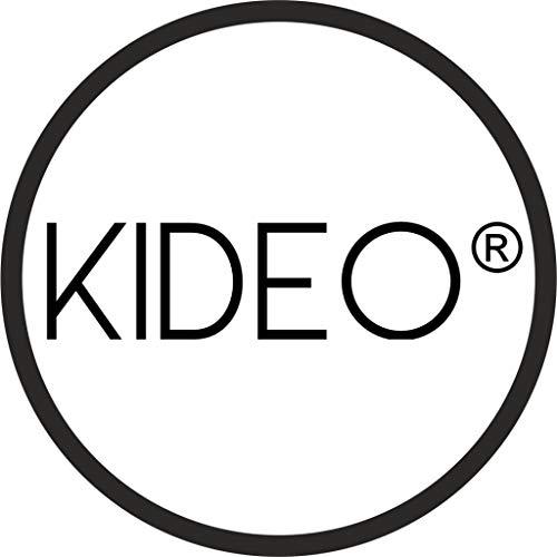Kideo® Komplettset: großer Hängesessel mit Gestell & Kissen, Indoor & Outdoor, Poly-Rattan, XXL, grau (Kissen: weiß Nest (1000 Snow)) - 3
