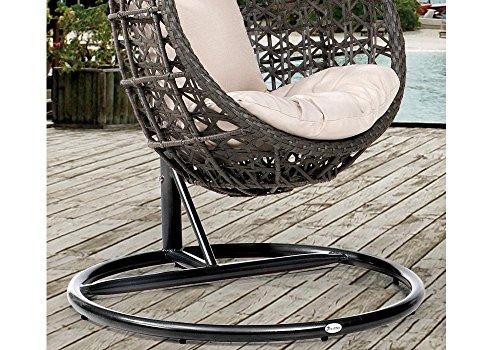 Destiny Hängesessel Coco, Kunststoff, grau, inkl. Sitz- und Rückenkissen 1 Stuhl, dunkelgrau - 3