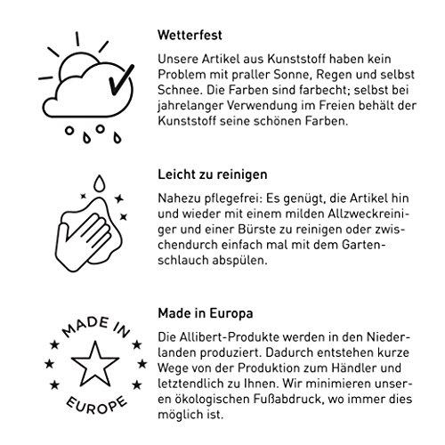 """""""Allibert by Keter"""" Gartenlounge Sofa Victoria, graphit/cool grey, 2-Sitzer, inkl. Sitz- und Rückenkissen, Kunststoff, flache Rattanoptik - 3"""