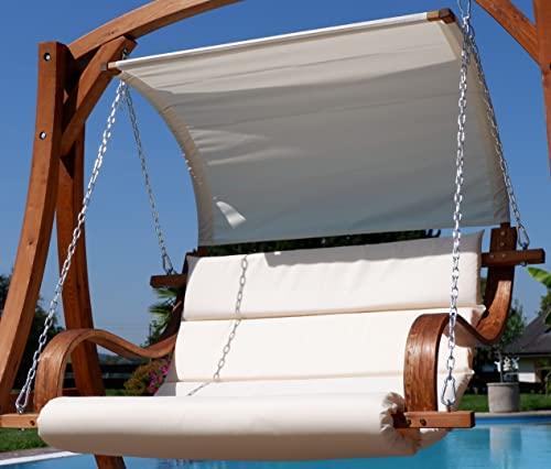 ASS Design Sitzbank für Hollywoodschaukel SEAT-MERU aus Holz Lärche inkl. Dach (ohne Gestell!!) von - 2