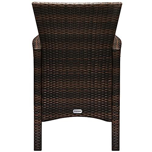 Deuba Poly Rattan Sitzgruppe Garten 8 Breite Stühle 7cm Auflagen Gartentisch Akazie Holz 8 Personen Gartenmöbel Set Braun - 7
