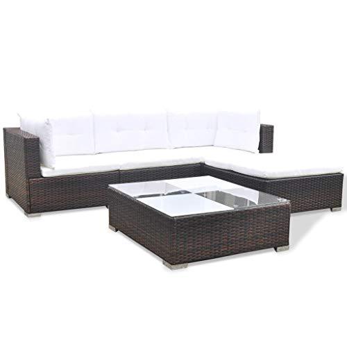 vidaXL Gartenmöbel 14-TLG. Poly Rattan Sofa Lounge Sitzgruppe Gartengarnitur - 4