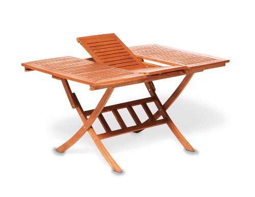 gartenmoebel-einkauf Multifunktionstisch Cordoba 110/160x90cm, klappbar und ausziehbar, Eukalyptus