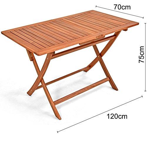 Deuba Sessel, Gartenmöbel, Holz, Eukalyptus, Akazienholz, Modell nach Auswahl - 5