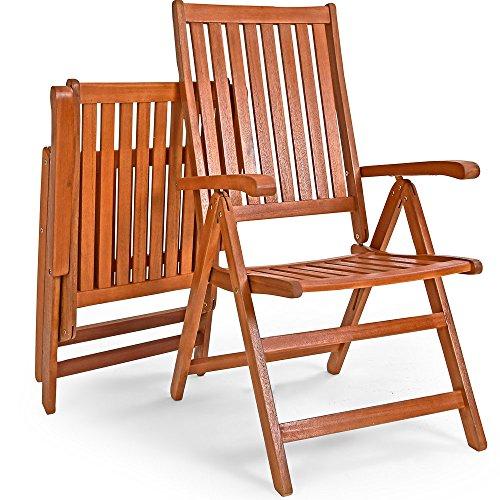 Deuba Sitzgruppe Moreno 8+1 FSC®-zertifiziertes Eukalyptusholz klappbar 9-TLG Tisch Sitzgarnitur Holz Gartenmöbel Garten Set - 6