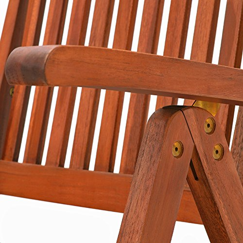 Deuba Sitzgruppe Moreno 8+1 FSC®-zertifiziertes Eukalyptusholz klappbar 9-TLG Tisch Sitzgarnitur Holz Gartenmöbel Garten Set - 7