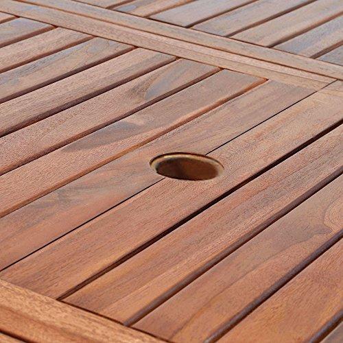 Casaria Sitzgruppe Vanamo 6+1 FSC®-zertifiziertes Eukalyptusholz klappbar 7-TLG Tisch Sitzgarnitur Holz Gartenmöbel Garten Set - 9