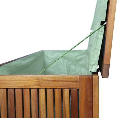 vidaXL Akazienholz Massiv Auflagenbox XL Kissenbox Gartenbox Gartentruhe Truhe - 5