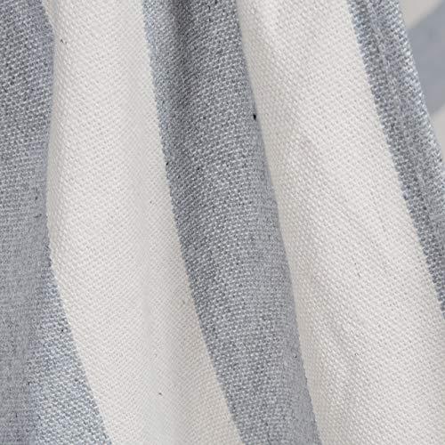 Relaxdays Hängesitz, XL Hängesessel aus Baumwolle, für Kinder & Erwachsene, Aufhängung, In-& Outdoor, 150 kg, grau/weiß - 7